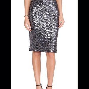 Silver Sequin Skirt XS NWOT
